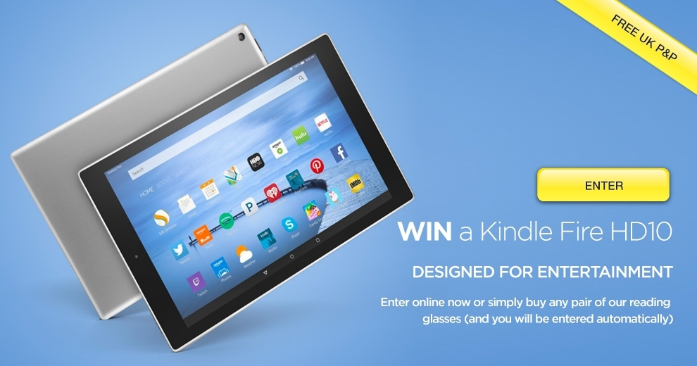 win a Kindle Fire HD10