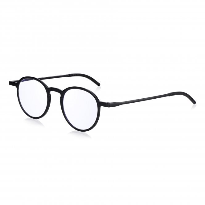 Read Optics Blue Light Blocking Round Frame Pocket Readers Glasses in Slim Case