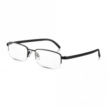 Clear Half Rim Glasses: Black Mens / Womens Metal Framed Reading Spectacles