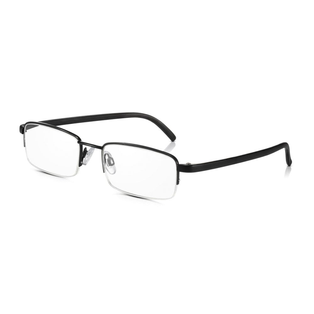 Buy Mens and Womens Black Half Frame Rectangle Reading Glass