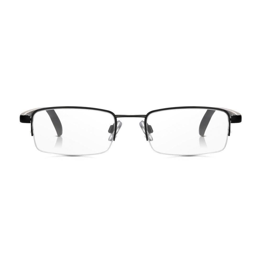 c90e7a2b0c61 Read Optics Clear Half Rim Glasses  Black Mens   Womens Metal Framed  Reading Spectacles