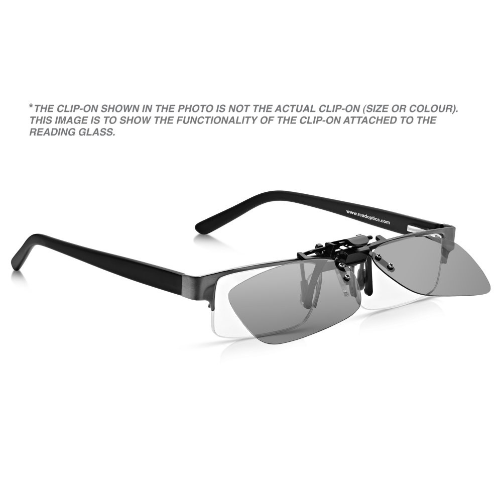 8cd9414e7f Read Optics Clip-On Sunglasses  Flip-Up   Down Polarised Mens   Womens Grey  UV Sun Lenses