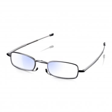 Compact Folding Telescopic Reading Glasses - Blue Light Blocking Lenses