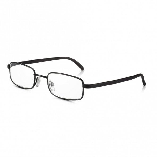 Read Optics Mens and Womens Black Full Frame Rectangle Reading Glass