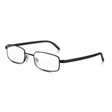 Mens and Womens Black Full Frame Rectangle Reading Glass