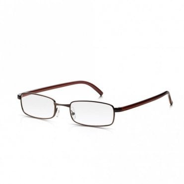 Mens and Womens Bronze Full Frame Rectangle Reading Glass