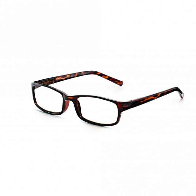 Read Optics Mens and Womens Brown Tortoiseshell Full Frame Rectangle Reading Glass