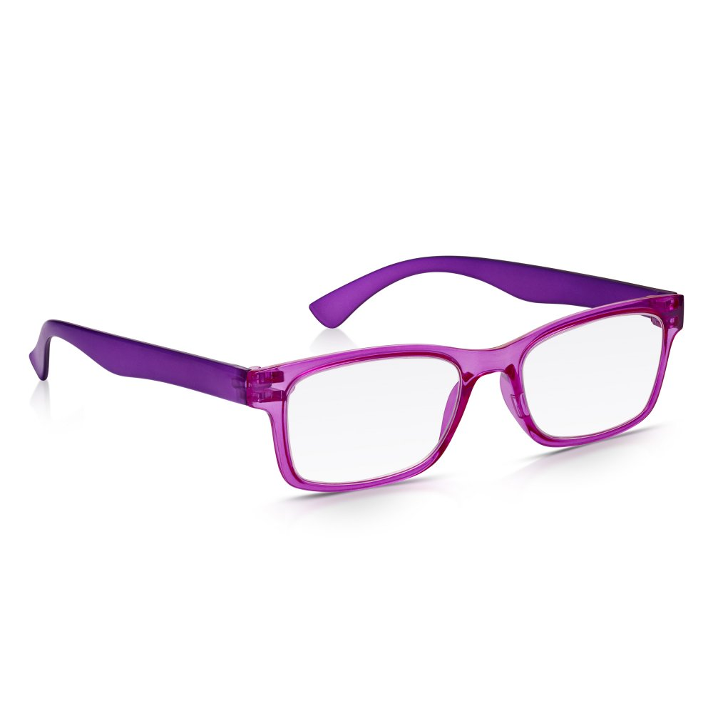 Read Optics Mens and Womens Crystal Pink and Purple Super Light Rectangle  Reading Glass 1b4a4c3e5