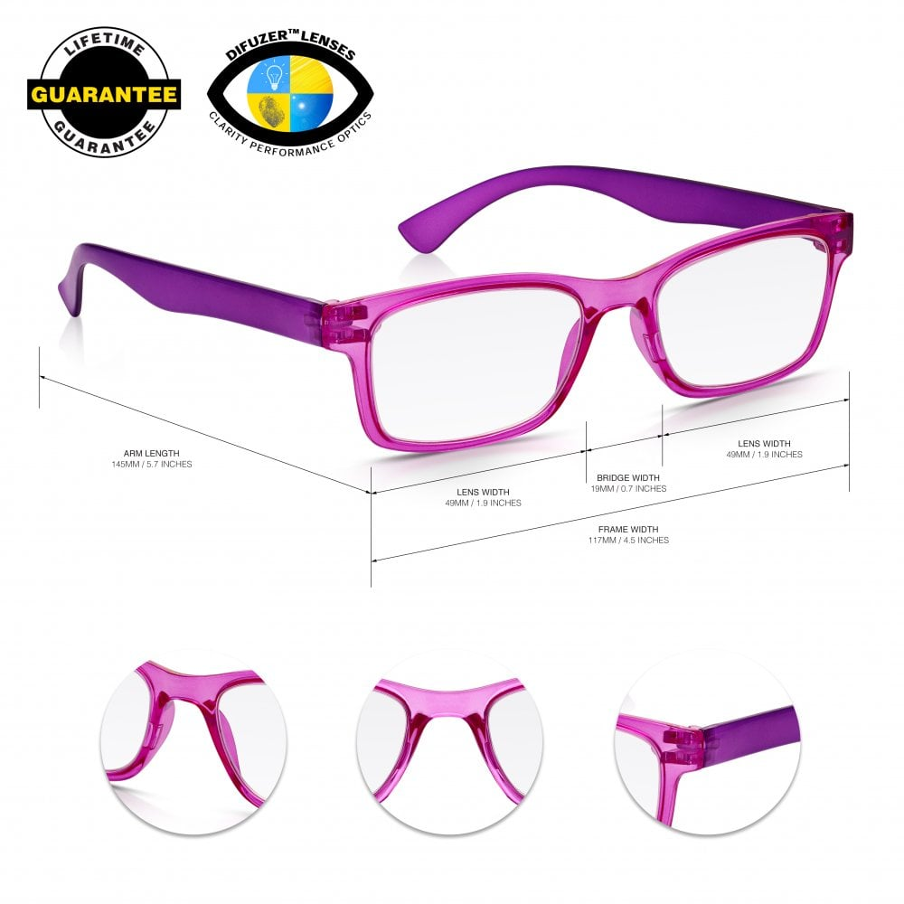 020a73651e Red And Purple Reading Glasses