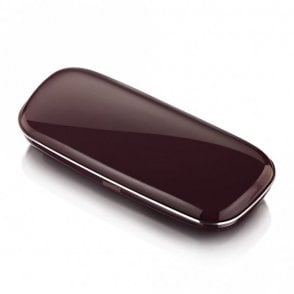 Mens and Womens Gloss Purple Mulberry and Silver Polycarbonate Optical Reading Glass Case