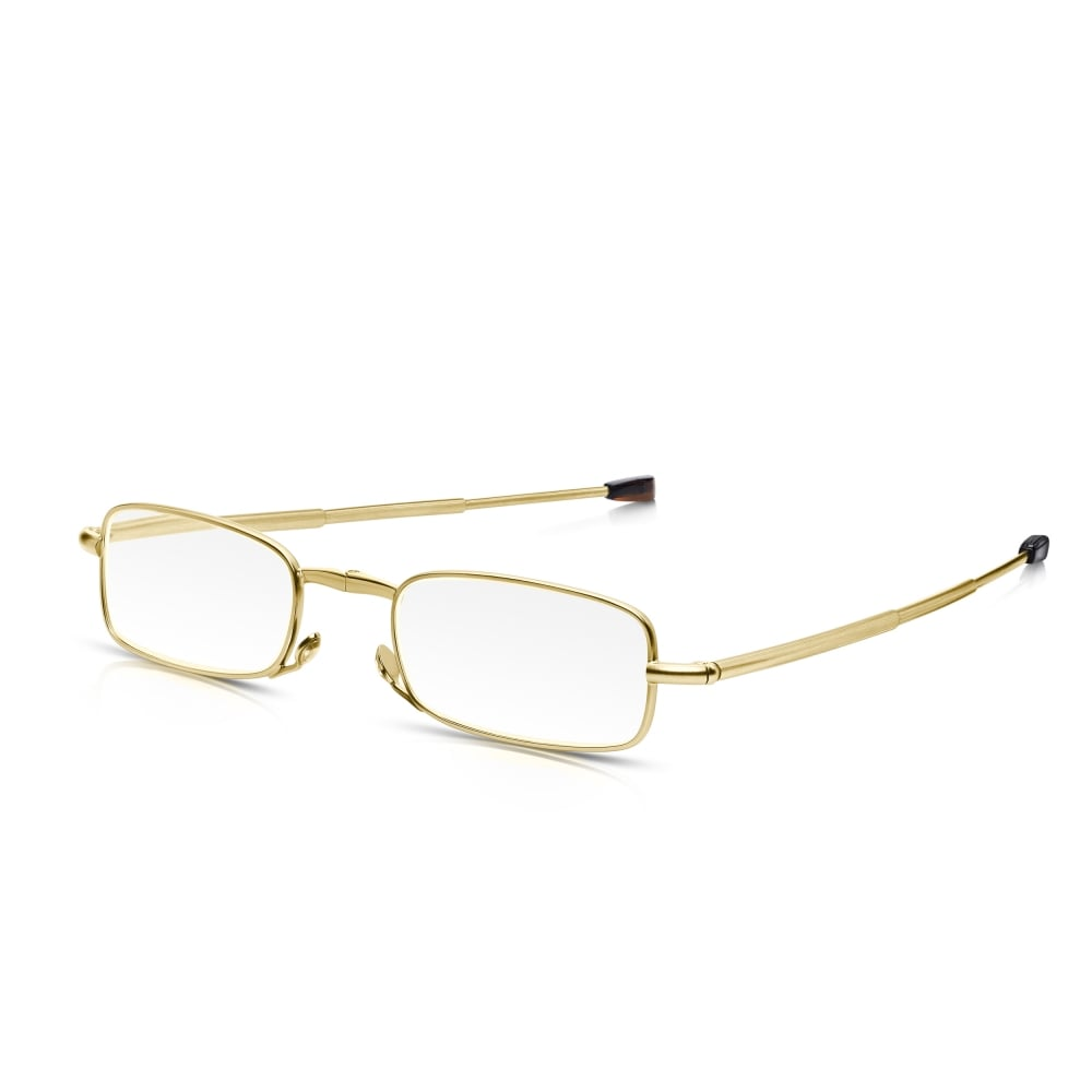 Read Optics Mens and Womens Gold and Brown Tortoiseshell Folding ...