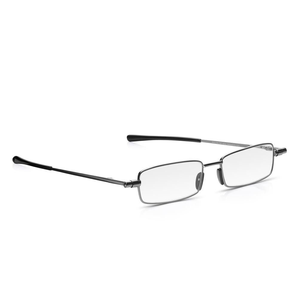 Buy Read Optics Mens and Womens Gunmetal Flat Folding Compact Full ...