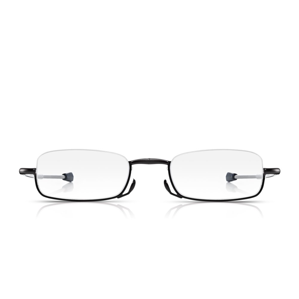 Half Frame Folding Reading Glasses : Buy Read Optics Mens and Womens Matt Gunmetal Folding ...