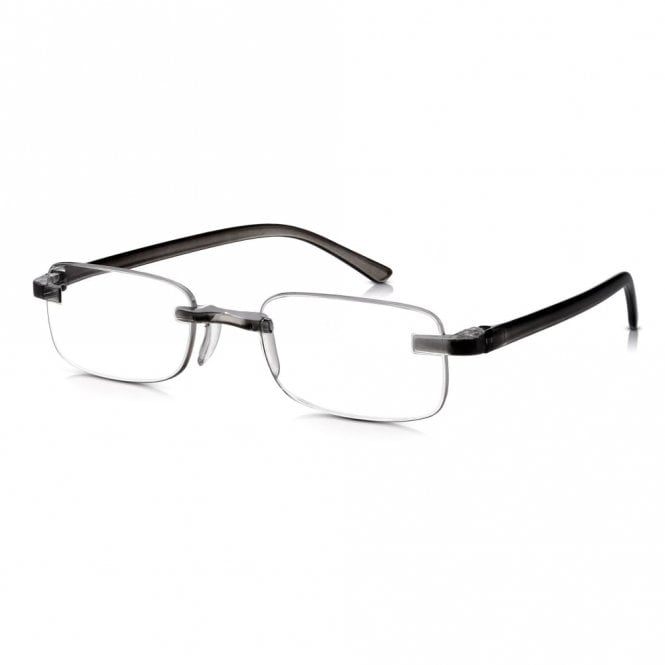 Read Optics Mens and Womens Patented Smoke Crystal Rimless Rectangle Reading Glass