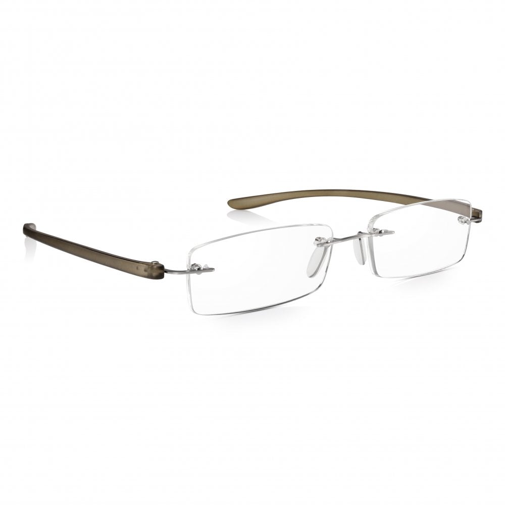 6eeb4f4cd262 Read Optics Mens   Ladies Rimless Reading Glasses  Unique Patented Non-Prescription  Readers