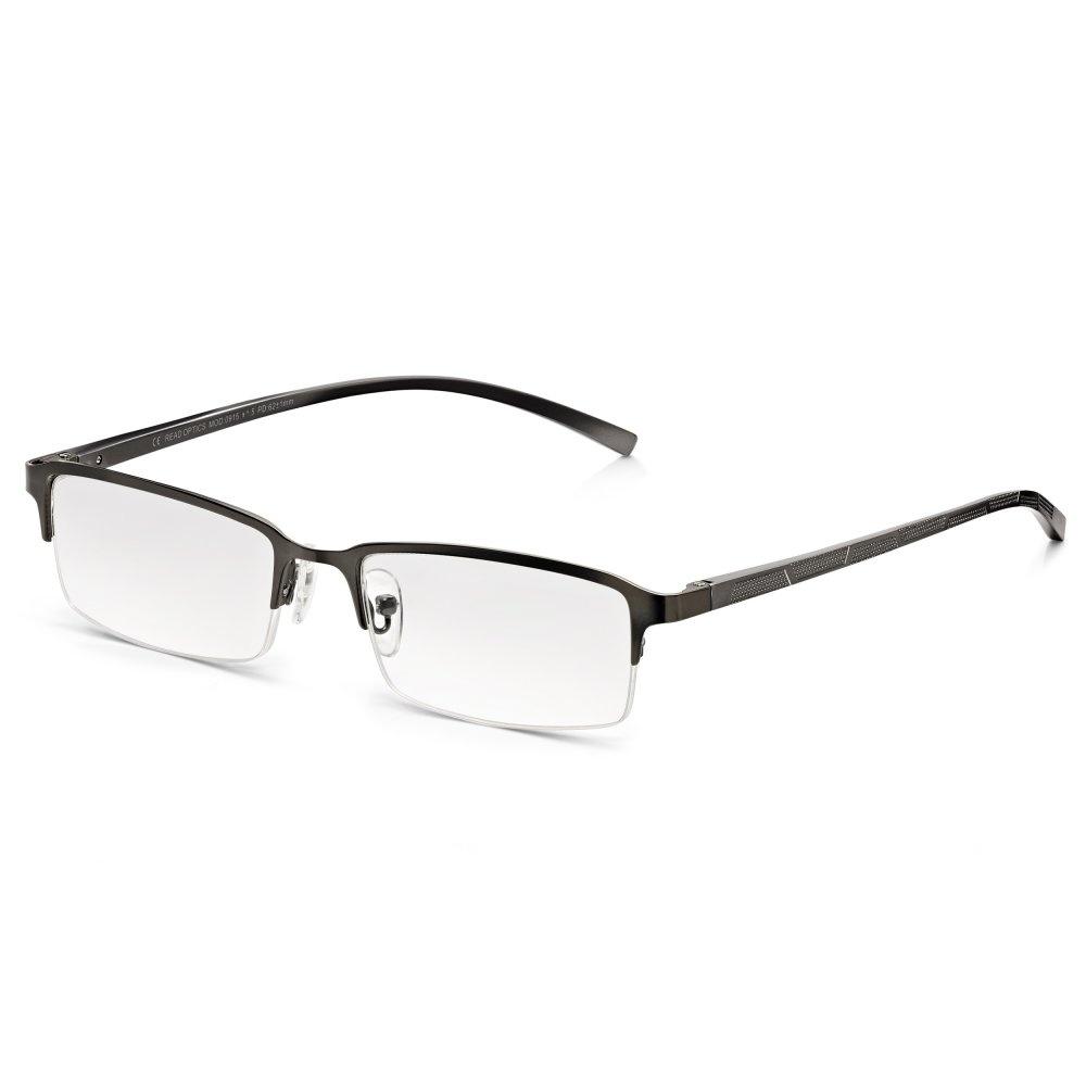 Half Frame Or Full Frame Glasses : Buy Read Optics Mens Oxidised Silver Chrome Alloy-Tech ...