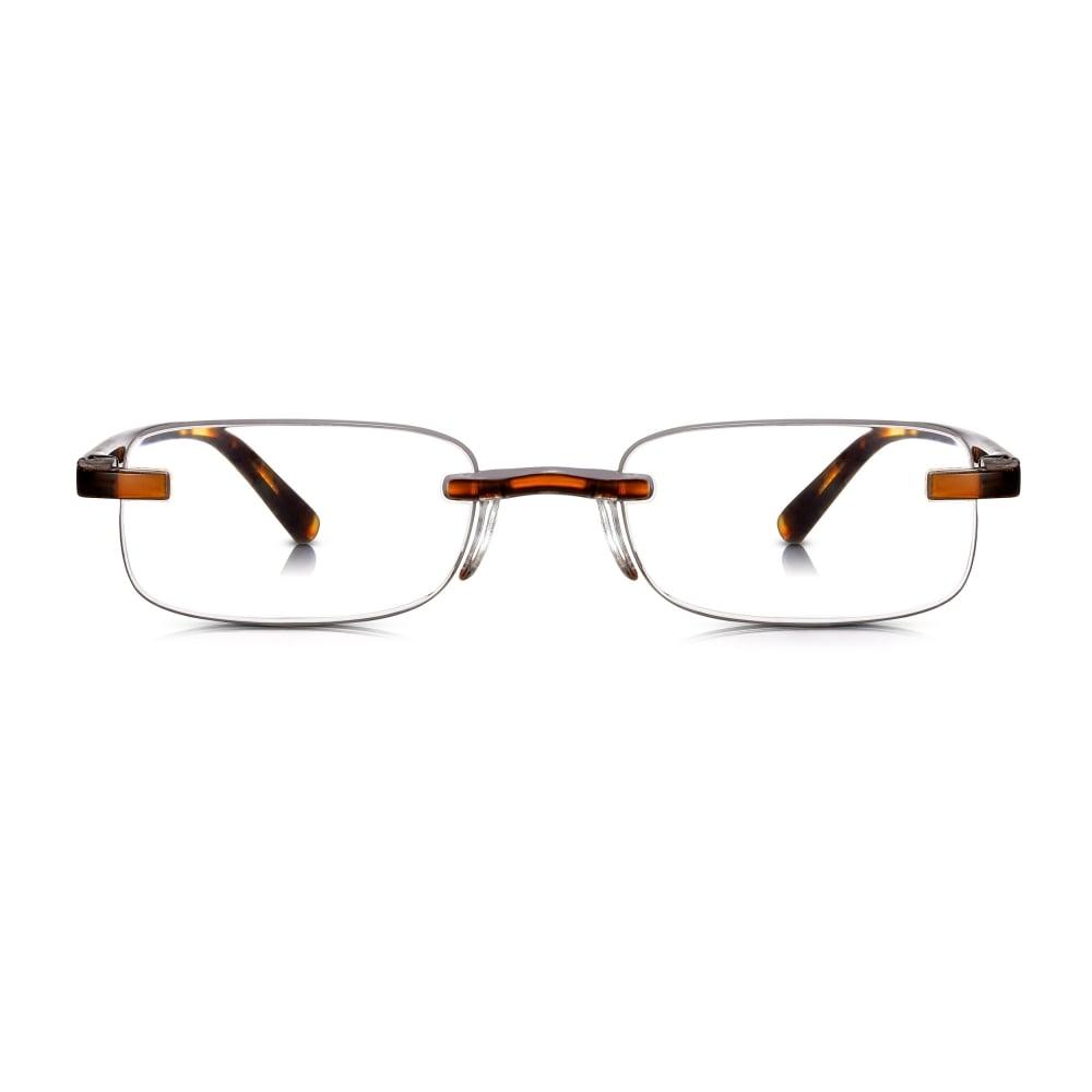 ce28f76791c1 Buy Read Optics Unisex Patented Tortoiseshell Rimless Reading Glass