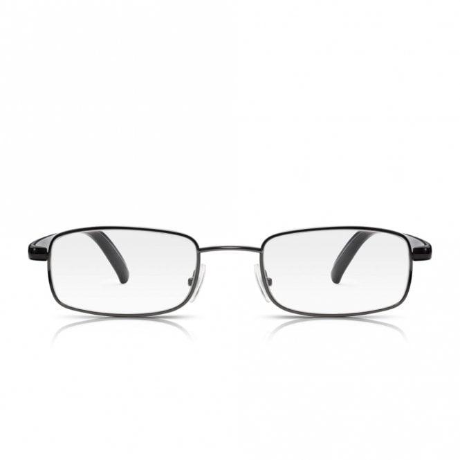 40fde0e0e87e Buy Read Optics Mens and Womens Gunmetal and Black Full Frame Rectangle Reading  Glasses