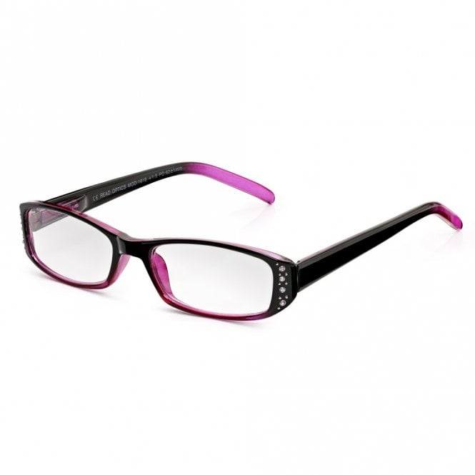 Read Optics Pretty Full Frame Reading Glasses for Women: Chic Crystal Blackberry and Pink