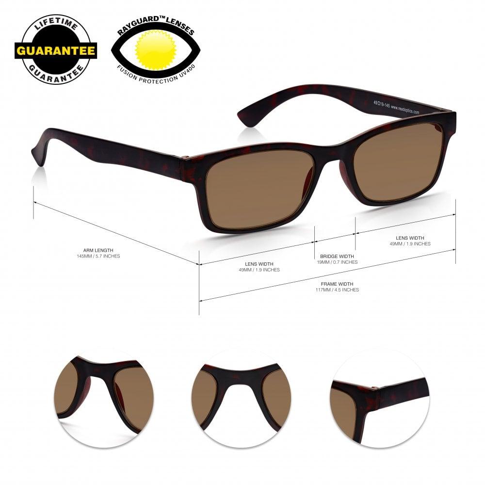 51689ac46e Read Optics Reader Sunglasses  Mens   Womens UV400 100% Protection Sunglass  Reading Glasses
