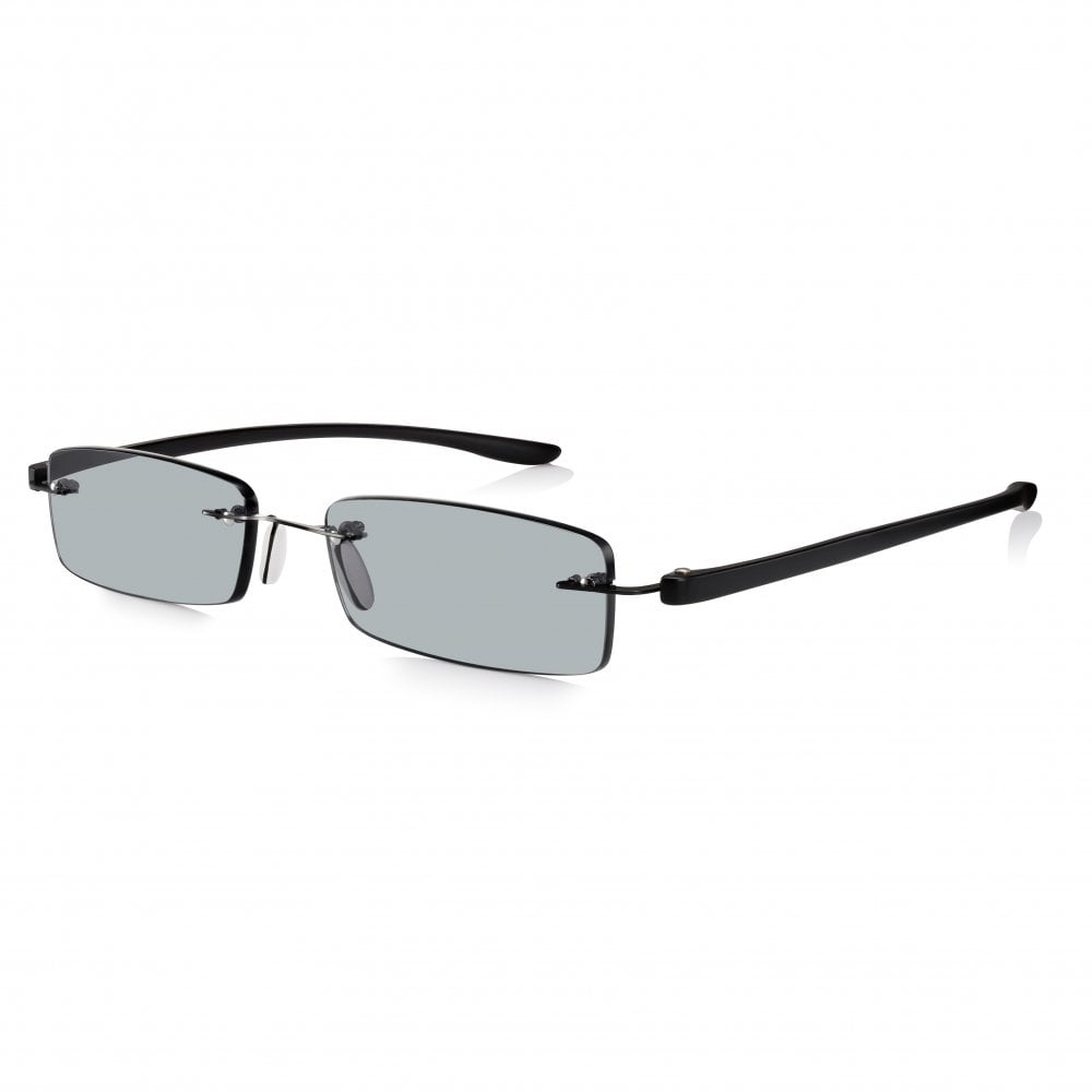 929e483fae Buy Mens and Womens Patented Black Rimless Rectangle Sun Reading Glass
