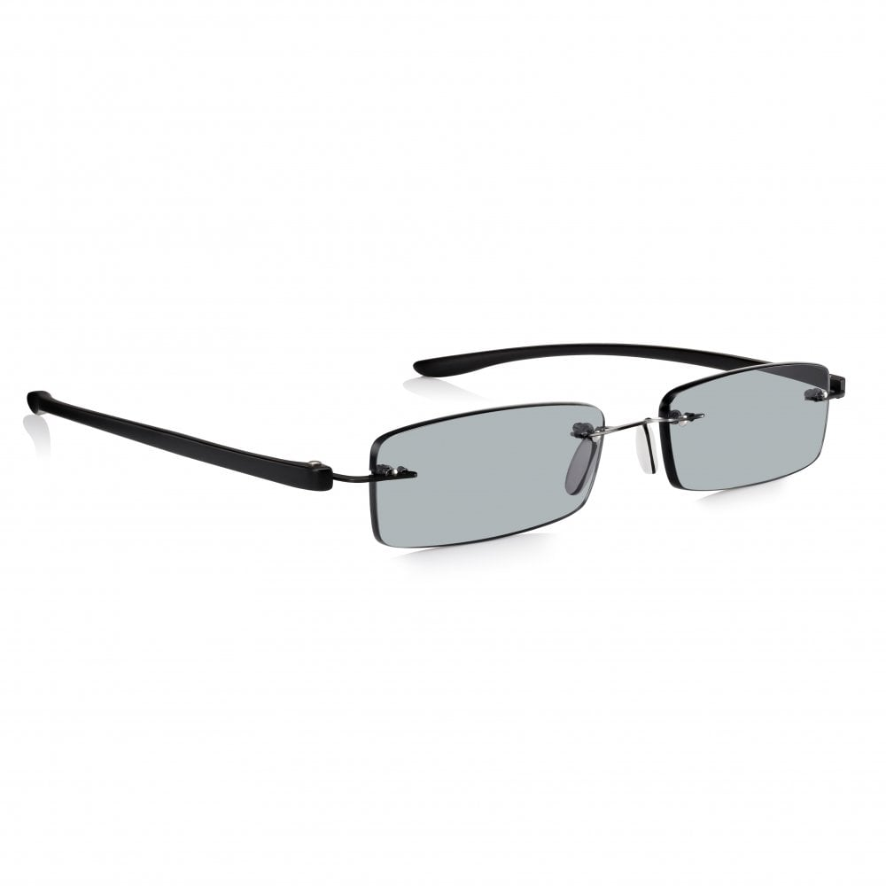 7a5adfc4385 Buy Mens and Womens Patented Black Rimless Rectangle Sun Reading Glass