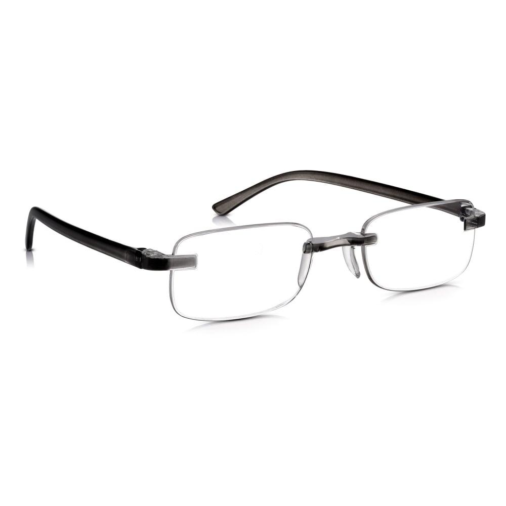 e0733db724bc Read Optics Rimless Ready Readers  Ultra Lightweight Flexible Grey Non  Prescription Glasses