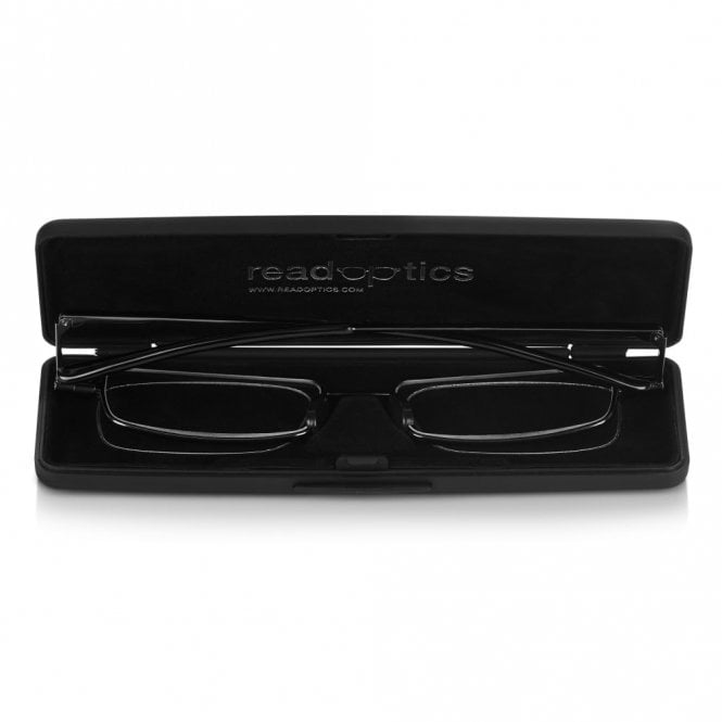 Read Optics Ultra Flat Folding Reading Glasses with Compact Slim Case for Men and Women