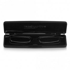 Ultra Flat Folding Reading Glasses with Compact Slim Case for Men and Women