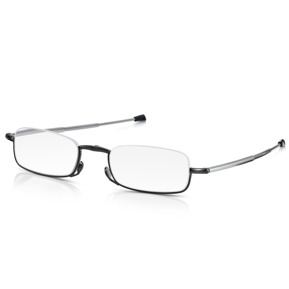 Half Frame Reading Glasses : Buy Unisex Matt Gunmetal Compact Half Frame Rectangle ...