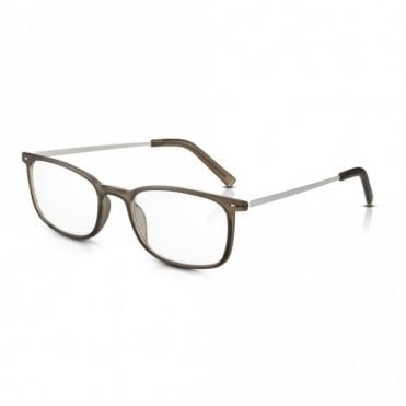 Vintage Style Glasses for Men / Women: Ultra Lightweight Grey PC + Alloy Arms