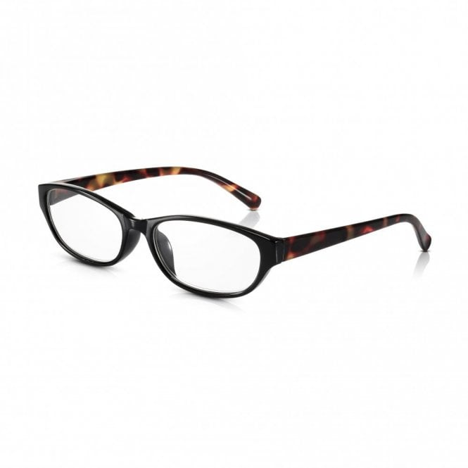 Read Optics Womens Black and Tortoiseshell Full Frame Cat Eye Reading Glass