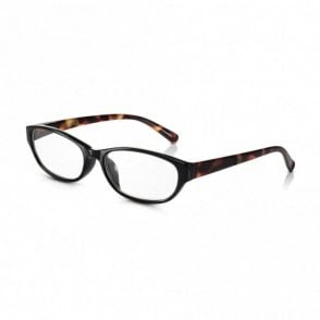 Womens Black and Tortoiseshell Full Frame Cat Eye Reading Glass