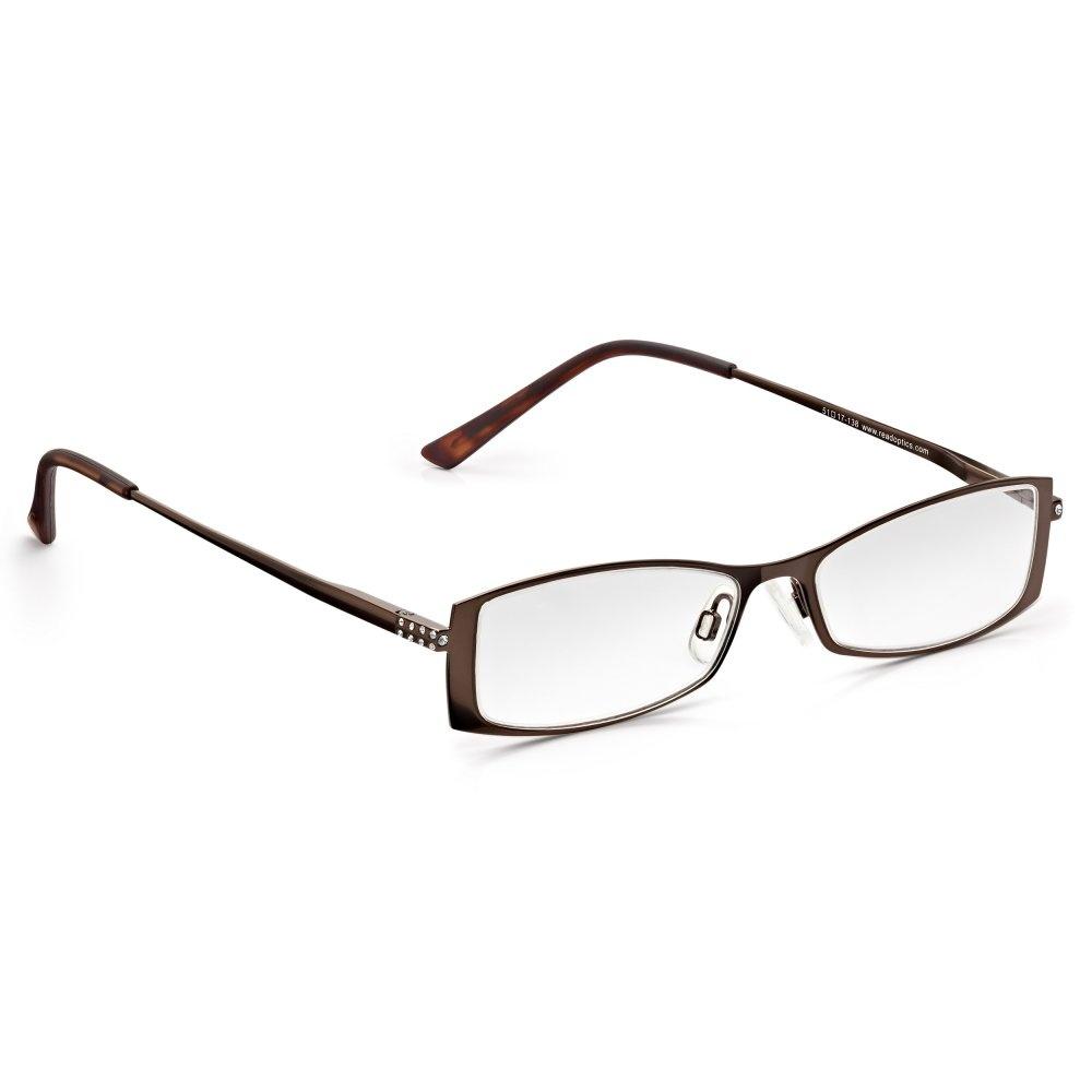 read optics womens chestnut diamante frame rectangle