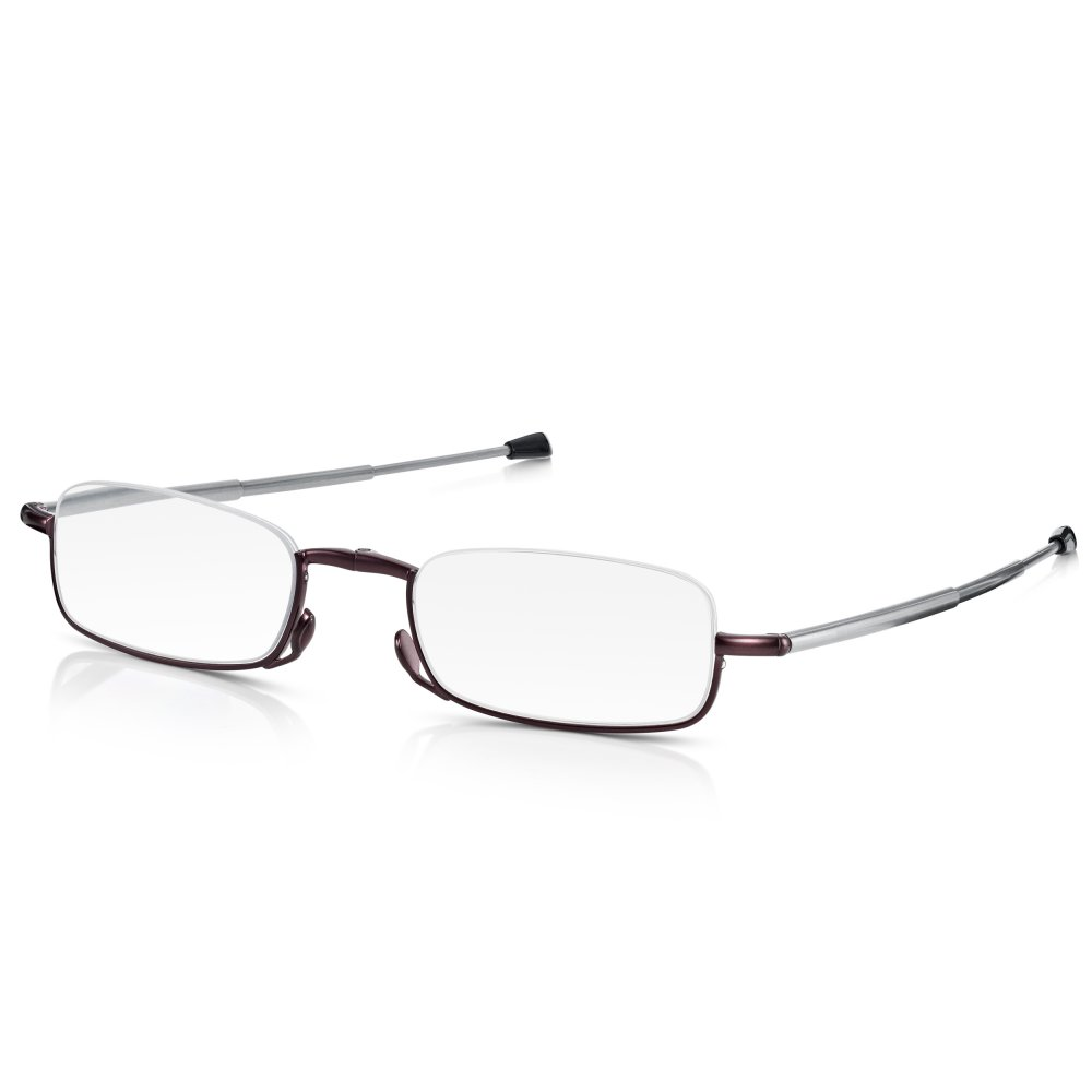What Are Half Frame Glasses Called : Buy Womens Metallic Purple Compact Half Frame Rectangle ...